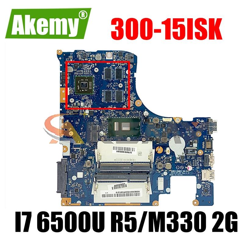 Akemy BMWQ1 BMWQ2 NM-A481 لينوفو Ideapad 300-15ISK اللوحة المحمول وحدة المعالجة المركزية I7 6500U R5/M330 2G DDR3 100% اختبار