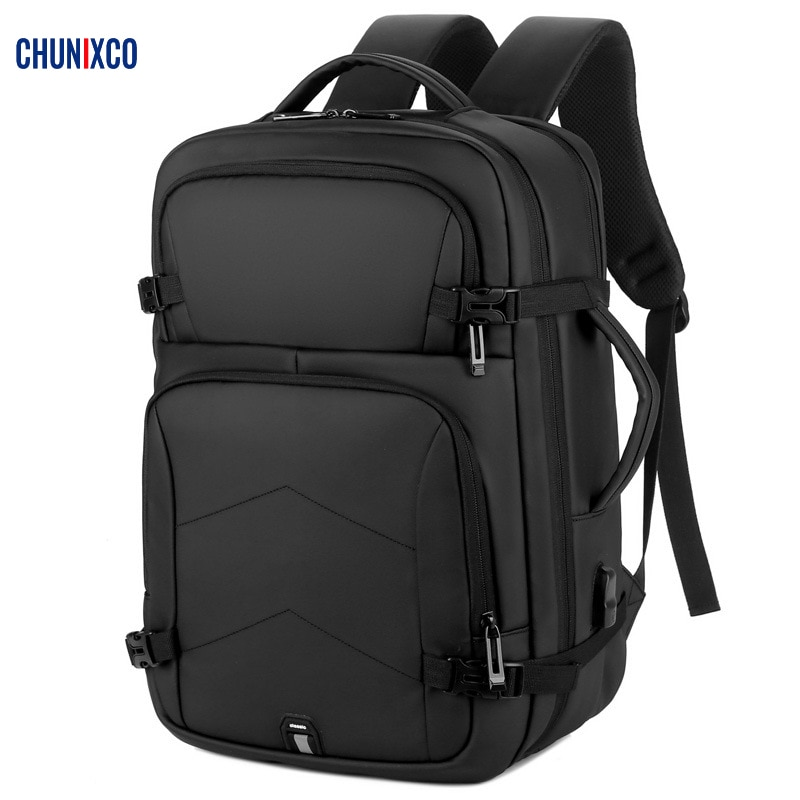 chunixco men backpack 15 6 inch laptop bag multifunctional man usb charging travel backpacks male bag anti thief mochila CHUNIXCO Men Backpack 15.6 inch Laptop Bag Multifunctional Man USB Charging Travel Backpacks Male Bag Anti-thief Mochila