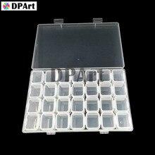28PCS Leere Grid Flaschen Box 10ML Kapazität für 4 Taschen Perlen Diamant Malerei Werkzeuge Perlen Container Lagerung Box m911