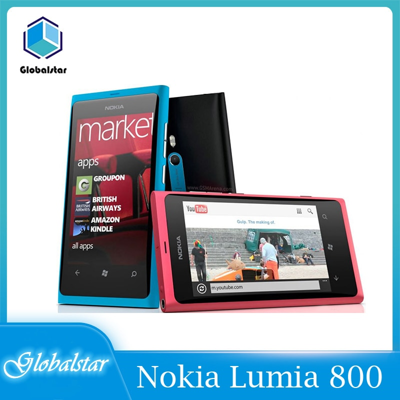 Nokia 800 reacondicionado Original Lumia 800 3G WIFI GPS 8MP Cámara 16GB...