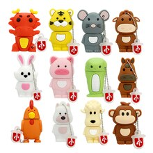 Signes du zodiaque chinois clé USB 4 8 16 32 64 128 256 gb clé USB 256GB 32GB 8GB clé USB chien/cochon/tigre/lapin cadeau