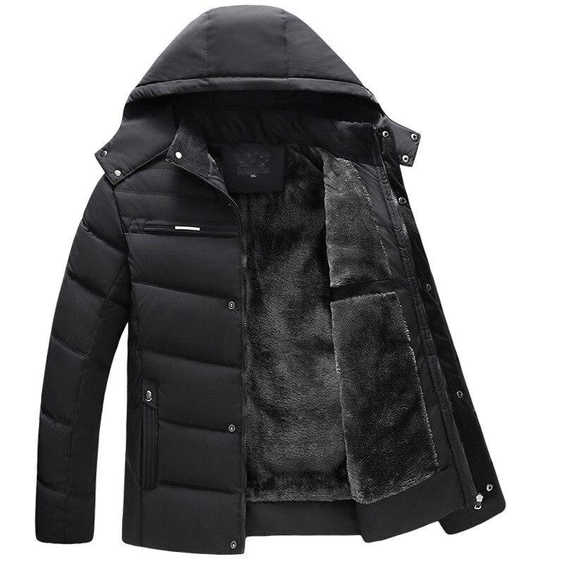 Мужская хлопковая одежда, новая мужская шапка, фланелевая хлопковая одежда, мужские парки, мужское зимнее пальто с капюшоном, пуховой хлопк...