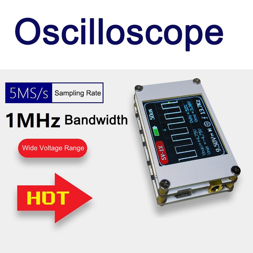 DSO188 Mini 1,8 pulgadas 1CH TFT LCD pantalla Digital portátil almacenamiento osciloscopio 1MHz ancho de banda 5M Frecuencia de muestreo