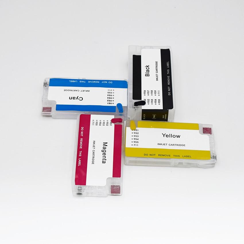 Многоразовый чернильный картридж с чипом автоматического сброса для принтеров HP 711 T120 T520 120 520, BOMA-TEAM HP711 HP711XL 711 711XL