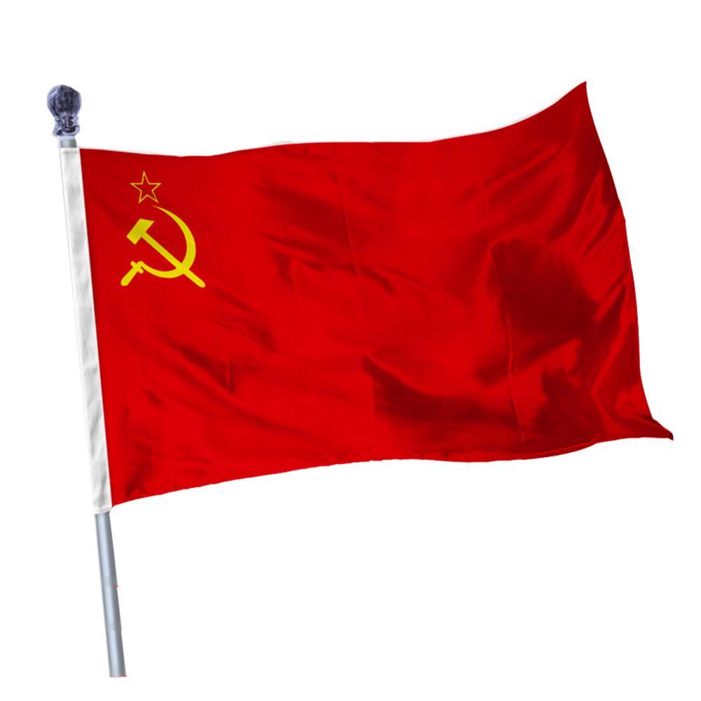 150*90CM Red Soviet Socialist Republics USSR Flag Banner Indoor Outdoor Home Decor
