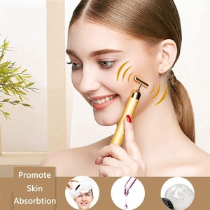 3D Roller Electric Sonic Energy Arm Eye Nose Head Massager Anti-Wrinkles 2-IN-1 24k Golden Pulse Facial Face  beauty tools