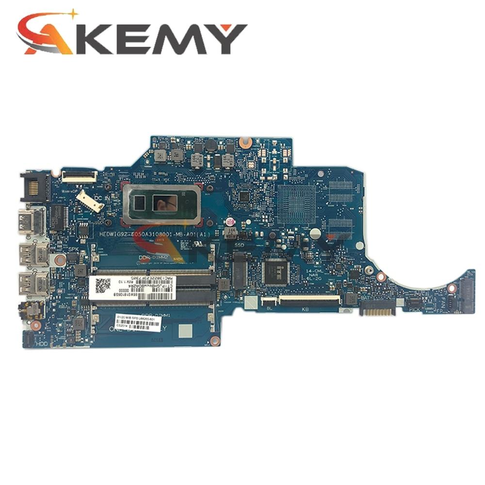Akemy ل Hp 14S-CR 14S-CR2002tu L68265-601 اللوحة الأم للكمبيوتر المحمول L68265-001 مع SRGKY i5-10210U 6050A3108001-MB 100% اختبارها