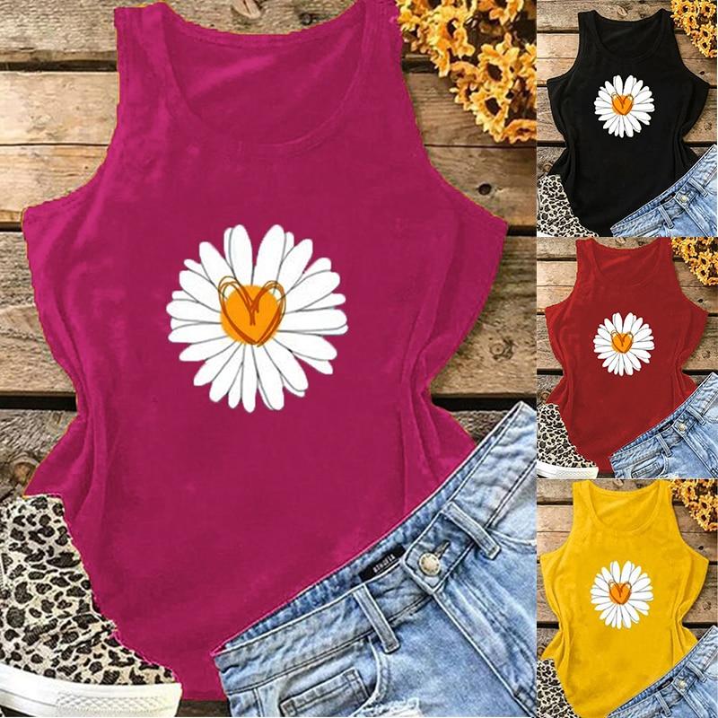 Moda feminina grunge arte t camisa estética tumblr te floral impresso t camisa verão branco sem mangas camisa 90s