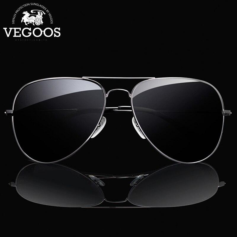 Vegoos clássico aviação óculos de sol homem polarizado uv400 proteção metal quadro primavera condução pesca piloto óculos #3025 s