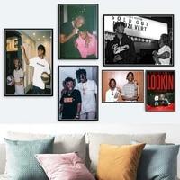 poster prints playboi carti lil uzi vert rap hip hop singer star art canvas painting wall pictures home decor quadro cuadros