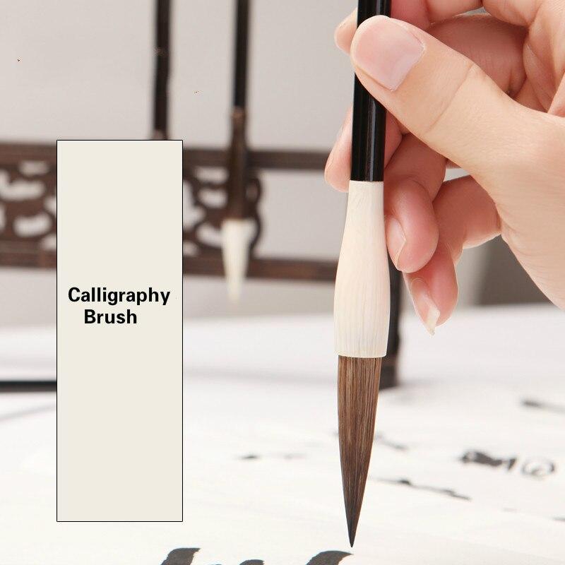 3 uds. Pinceles de caligrafía ratón batidor sello escritura caligrafía pincel caligrafía tradicional escritura pincel chino pintura bolígrafos