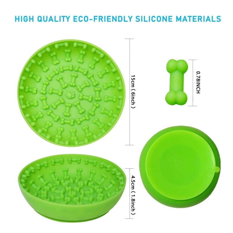 Dog Slow Feeder Bowls With Suction Cup Dog Lick Mat Pet Lick Pad Anxiety Reduction Bath Distraction Food Dispenser Licking Toys  - buy with discount