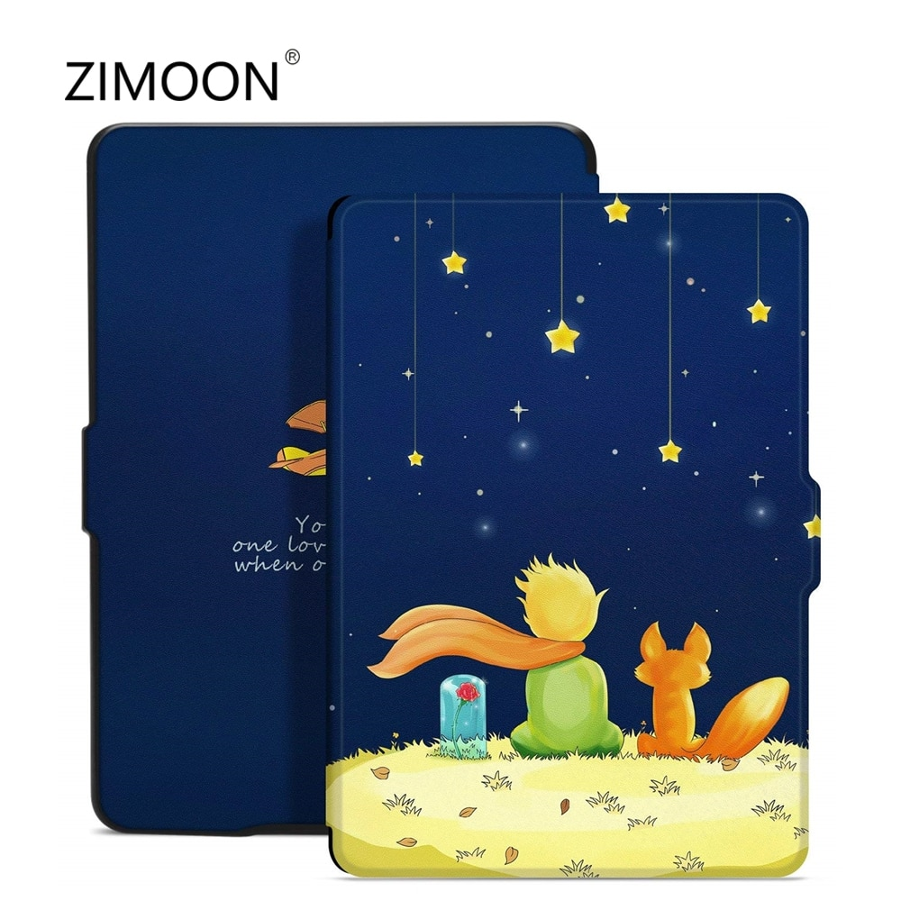 Para Amazon Kindle Paperwhite 2 3 impresión tapa inteligente para Kindle Paperwhite/1/2/3 de cuero de la PU CASO DE Tablet de 6 pulgadas cubierta de libro electrónico