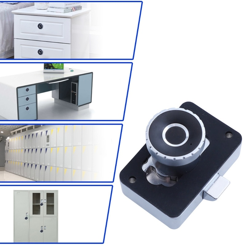 سبائك الزنك الذكية قفل ببصمة الأصبع لخزانة ملابس بأدراج خزانة بدون مفتاح قفل بصمة القياسات الحيوية قفل USB الشحن
