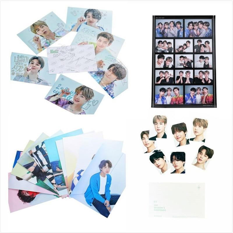 KPOP Bangtan Boys Seasons Greeting LOMO Crad Photobook 3D Card JUNG KOOK JIMIN JIN SUGA J-HOPE Postcard Sticker jh105
