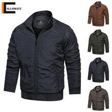 2021 New Mens Winter Jacket Coat Warm Slim Casual Men Parka Solid Color Zipper Outerwear Thicken Win