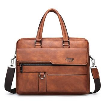Men's Bag Jeep New Shoulder Handbag Cross Fashion Briefcase