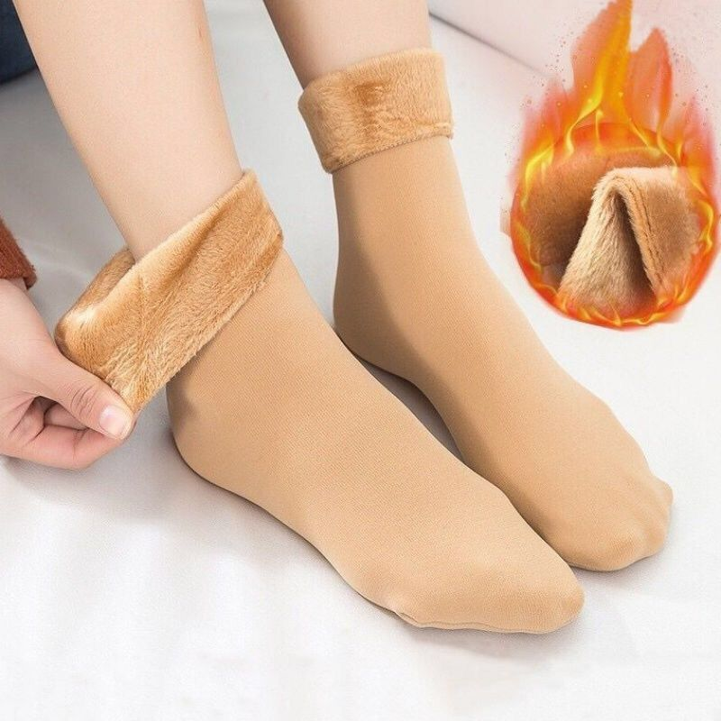Зимние женские носки, 4 цвета, теплые плотные носки плюс, женские мягкие однотонные носки, плюшевые теплые хлопковые носки, повседневные зим...