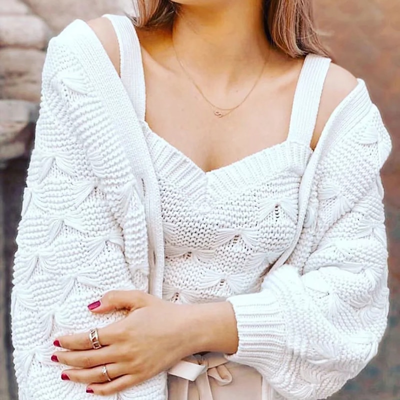 Conjuntos de blusas de punto elegantes Vintage para mujer, conjunto de tops bomba para mujer a la moda de 2020, camisas con lazo para mujer, prendas de punto elegantes para chicas