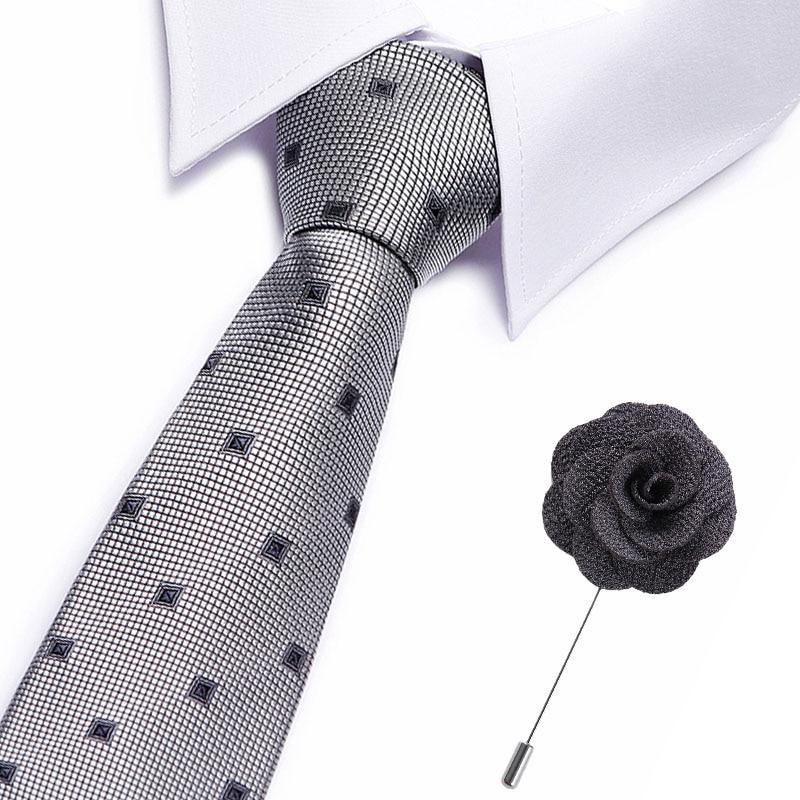 Corbatas de diseño clásico a rayas para hombre, corbatas de tejido de Jacquard para boda 7,5 cm100 % seda, Corbata lisa para hombre, accesorios para corbatas con lunares
