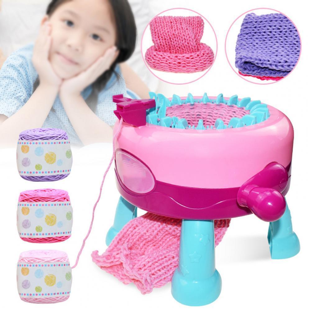 Knitting Toy Multifunctional Reliable 22 Needles Handmade Wool Knitting for Kids Knitting Toy Weaver Handmade Kids