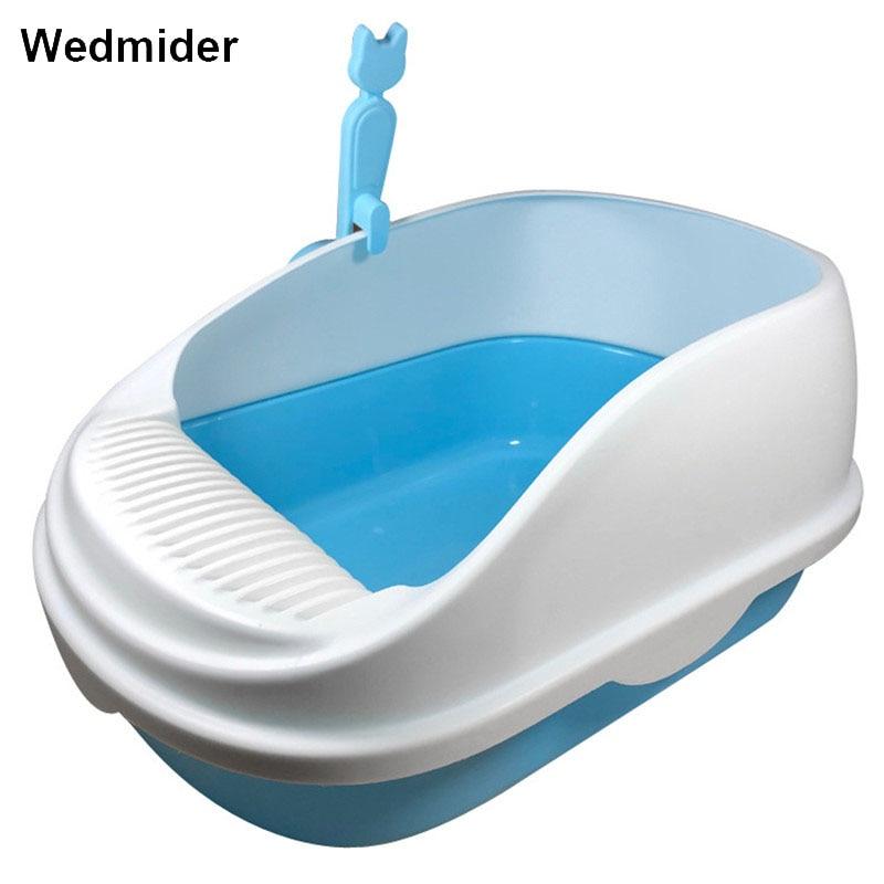Brand New Plastic Cat Toilet Training Kit Litter Box Prevent Sand Throwing Cat Toilet Training Cat Indoor Home Sandbox