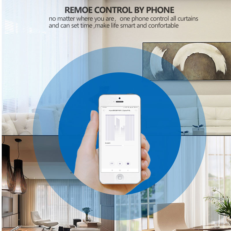 Aqara Smart Curtain Motor Mi Home APP Wireless Remote Control ZigBee Electric Smart Curtain Motor work with homekit smart home