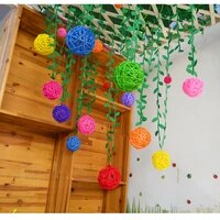 20pcsset 35cm round shape rattan ball sepak fragrant takraw for christmas birthday party home wedding party decoration