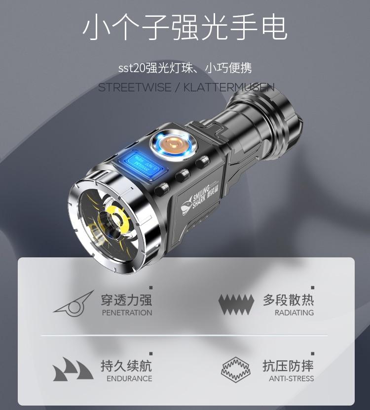 lanterna poderosa para acampamento mini lanterna poderosa para seguranca portatil iluminacao bi50fl