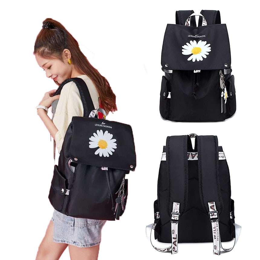 Small Daisy Backpack Backpack Female Computer Female Backpack College Student Schoolbag Travel Bag F