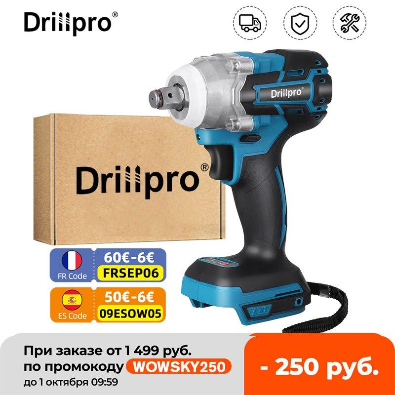 Drillpro-مفتاح ربط بدون فرش ، 1/2 بوصة ، مع ضوء LED ، لبطارية ماكيتا 18 فولت