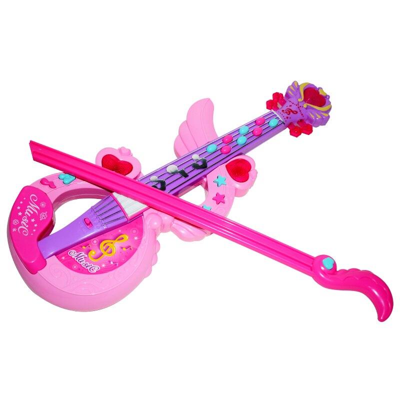 Violín de juguete Musical para niños, instrumento Musical eléctrico, regalo, guitarra plástica de juguete Musical, juguetes educativos, banda de Rock, guitarra BB50YQ