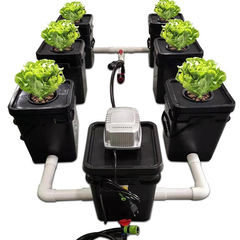 RDWC 6 قطعة/المجموعة غالون استنساخ مربع دلو نظام الزراعة المائية الدفيئة زراعة زراعة التربة PP المواد