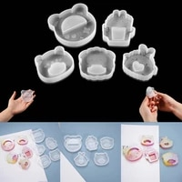 cartoon animal silicone mold soap pendant casting uv epoxy resin mold for diy jewelry keychain crafts decorations making tools
