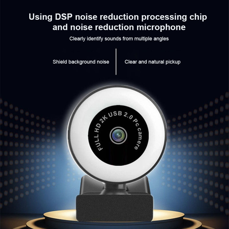 webcam 1080p 2k hd completo usb camera da web encontrou microfoon usb plug drive