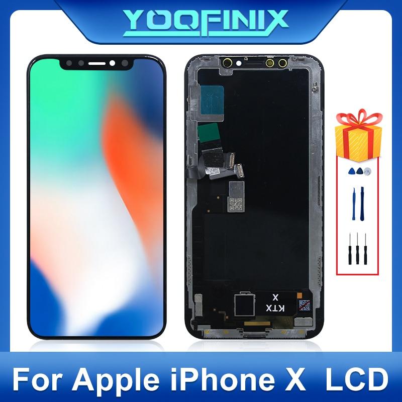 ЖК-дисплей с сенсорным экраном 5,8 дюйма OLED для Apple iPhone X, дигитайзер для Apple iPhone 10, ЖК-дисплей A1901, A1865, запасные части
