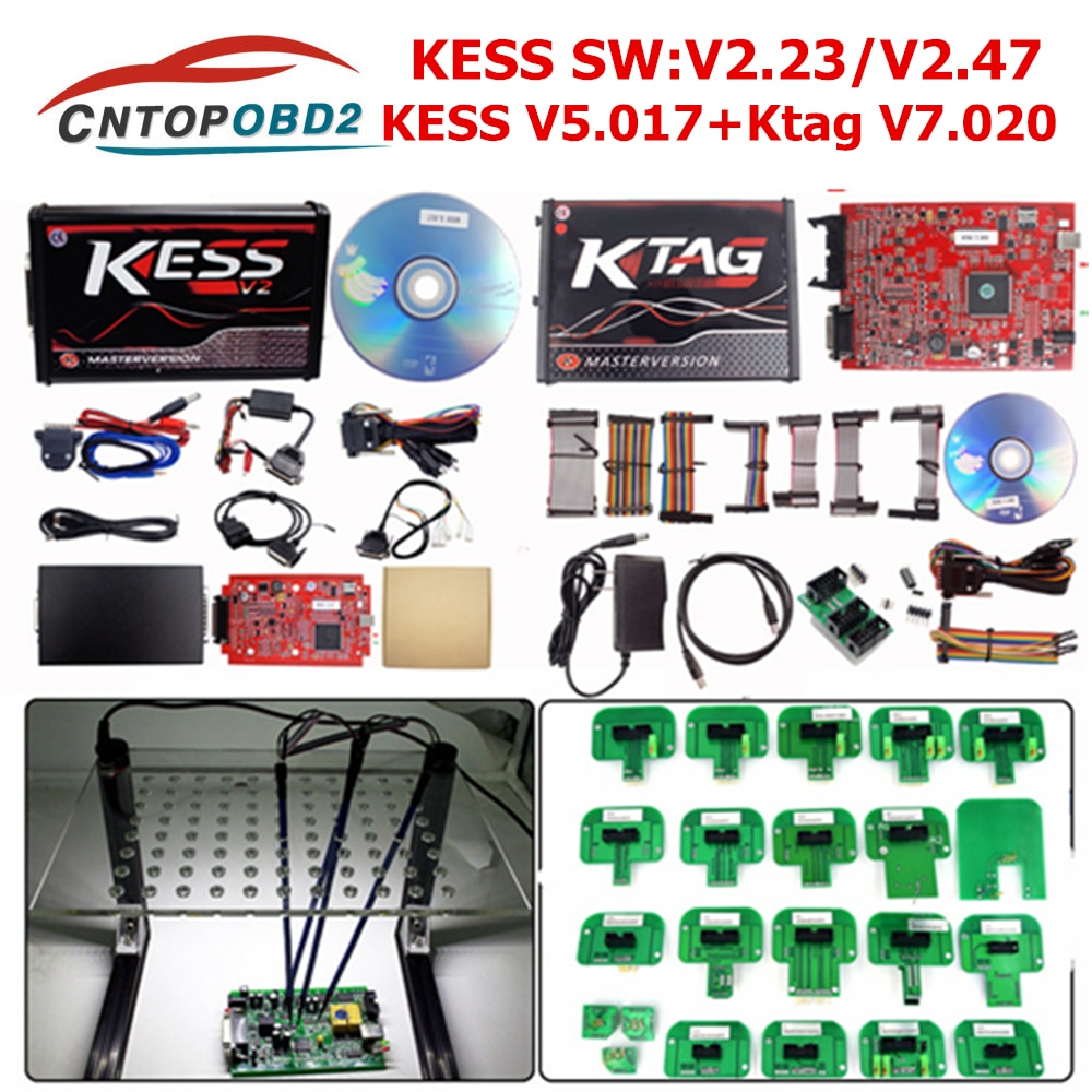 2019 Online EU Red Kess V5.017 V2.47 Ktag el más nuevo V2.25 sin token limitado de Chip de ecualizador ECM titanio Ktag V2.23 ECU programador