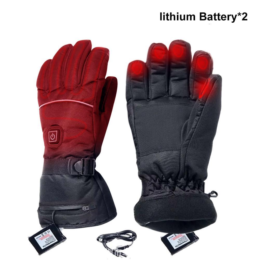 Guantes eléctricos calentados con ajuste de temperatura baterías de litio guantes dedo completo guante para esquiar senderismo escalada conducción