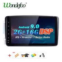 Android 9,0 DSP IPS GPS Radio para Mercedes-Benz Clase C CLK W209 W203 W463 W208 W163 Vaneo Viano Vito W639 W638 W168 Navi SIN DVD