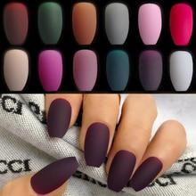 24PCS Grape purple  Matte False Nails Light Lilac Color Frosted Women Fake Nail  Top Finish Designs Finger Nail Art Tips