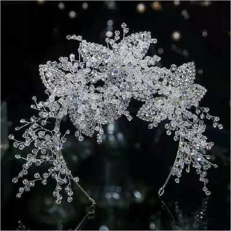 Diadema nupcial de cristal brillante lujoso, corona, Reina C, accesorios de boda,...