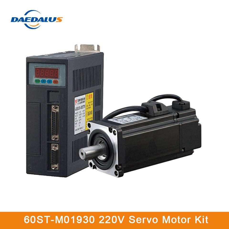 60ST-M01930 AC Servo Motor Kit de Cable de 3M 220V 1.91N M 0.6KW 15A Mini Servo Motor para aparatos e instrumentos médicos