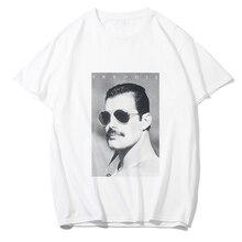 Freddie Mercury футболка для мужчин/женщин модная футболка хип-хоп Рок Панк стиль летняя белая хлопковая Футболка бойфренд подарок Homme