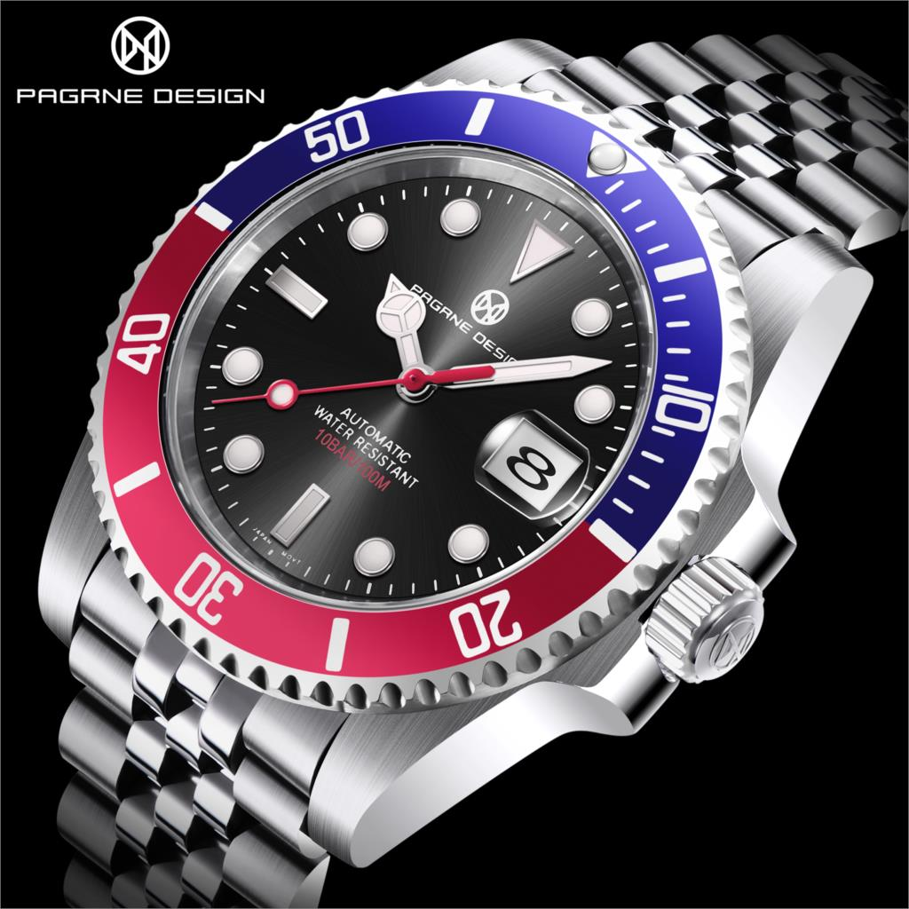 2021 New PAGRNE DESIGN Top Brand  Luxury Men Mechanical Wristwatch PAGANI Watch Stainless Steel Japan NH35A clock reloj hombre enlarge