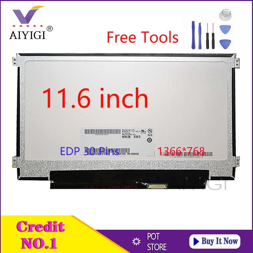 Portátil de 11,6 pulgadas LCD LED pantalla B116XTN02.3 B116XTN02.1 N116BGE-EA1 N116BGE-EB2 N116BGE-EA2...