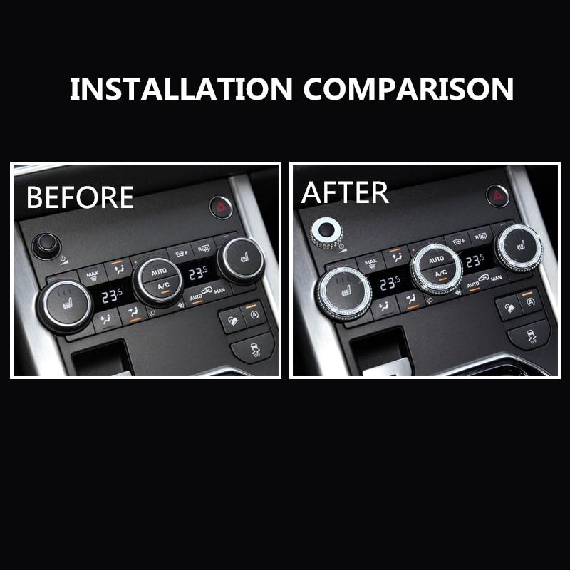 Diamante Audio aire acondicionado pomo Decoración Para Land Rover 14-17 Range Rover Sport edición ejecutiva Aurora Interior modificado