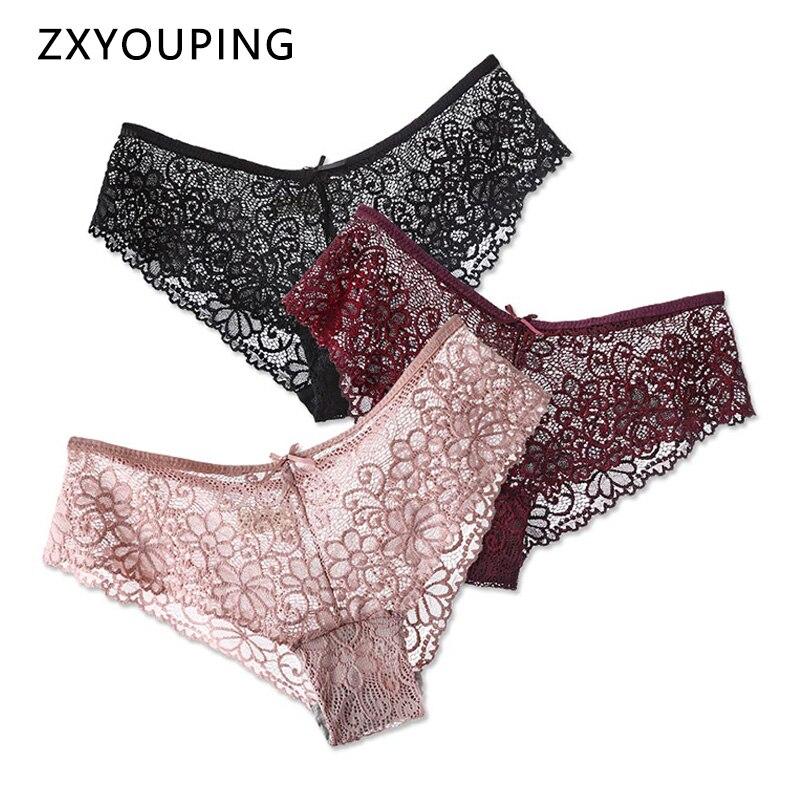 3 pçs calcinha de renda para roupa interior sexy lingerie calcinha de baixo nível feminino oco para fora cuecas transparentes plus size 2xl