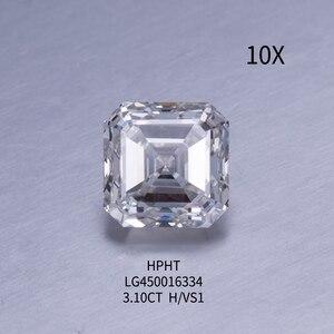 3,1 карат H Цвет VS1 чистота иджи сертификат Asscher CVD лабораторный Выращенный алмаз