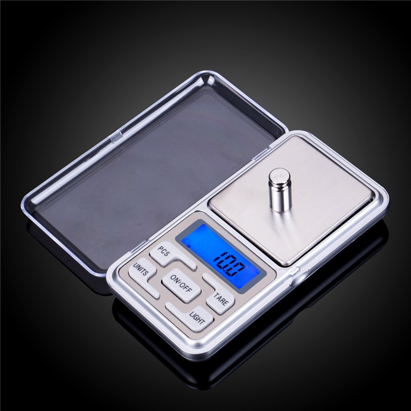 Digital Pocket Scale Kitchen Portable LCD Electronic Jewelry Gold Diamond Herb Balance Weight Weight