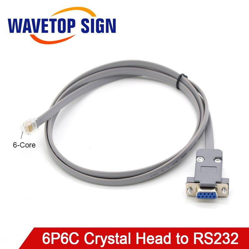 WaveTopSign, RJ11 6P6C, cabezal de cristal a RS232, puerto Serial hembra, Cable adaptador DB9